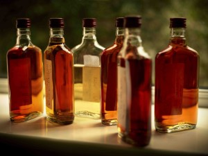 Redbreast laboratory bottles